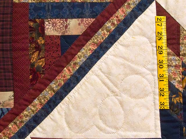 Country Colors Lone Star Log Cabin Quilt Photo 5