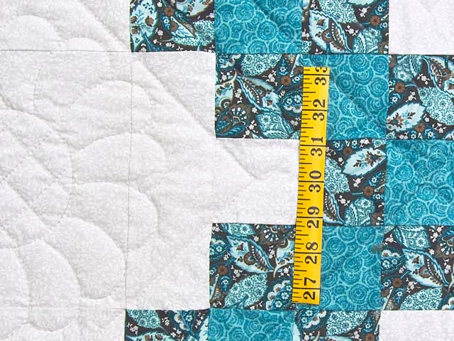 Aqua Blue and Brown Double Irish Chain Quilt Photo 5