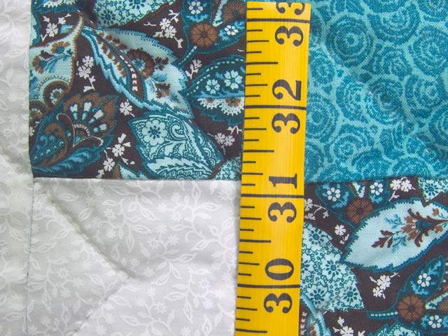 Aqua Blue and Brown Double Irish Chain Quilt Photo 6
