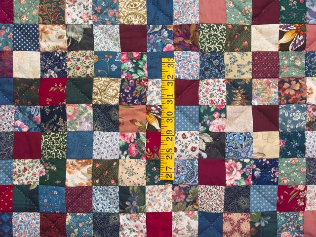 King Navy Burgundy and Multicolor Hit or Miss Quilt Photo 4