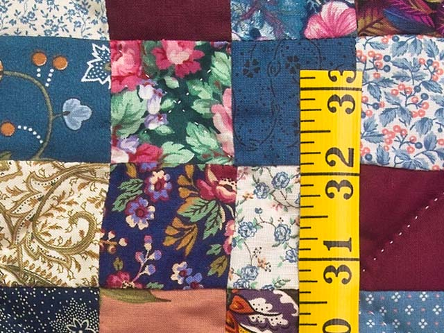King Navy Burgundy and Multicolor Hit or Miss Quilt Photo 5