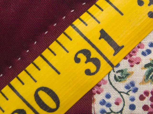 King Navy Burgundy and Multicolor Hit or Miss Quilt Photo 8