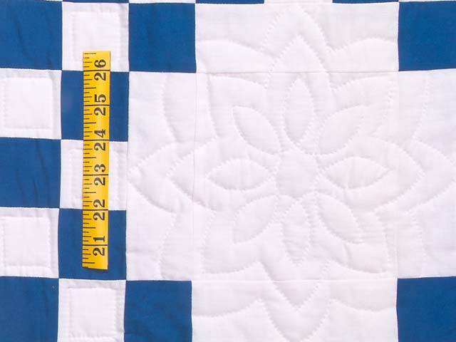 Blue and Cream Double Irish Chain Quilt Photo 5