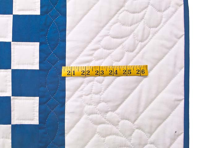 Blue and Cream Double Irish Chain Quilt Photo 6