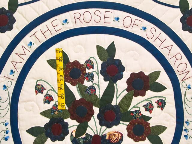 Navy and Multicolor Rose of Sharon Quilt Photo 4