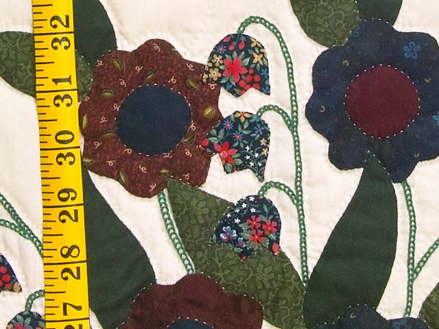 Navy and Multicolor Rose of Sharon Quilt Photo 6