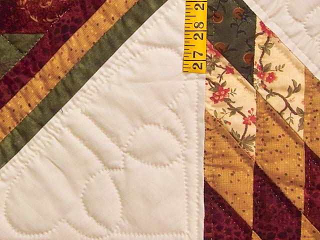 Burgundy Moss and Golden Tan Lone Star Log Cabin Quilt Photo 5