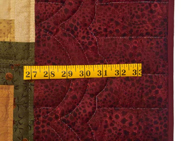Burgundy Moss and Golden Tan Lone Star Log Cabin Quilt Photo 7