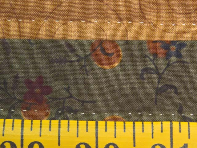 Burgundy Moss and Golden Tan Lone Star Log Cabin Quilt Photo 8