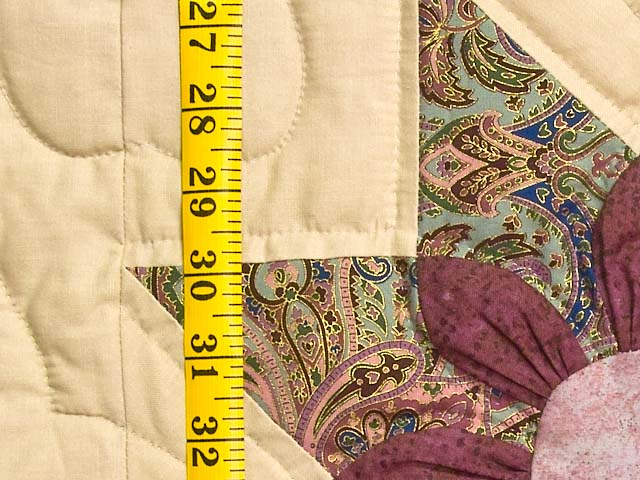 Rose Teal and Tan Dahlia Star Quilt Photo 5