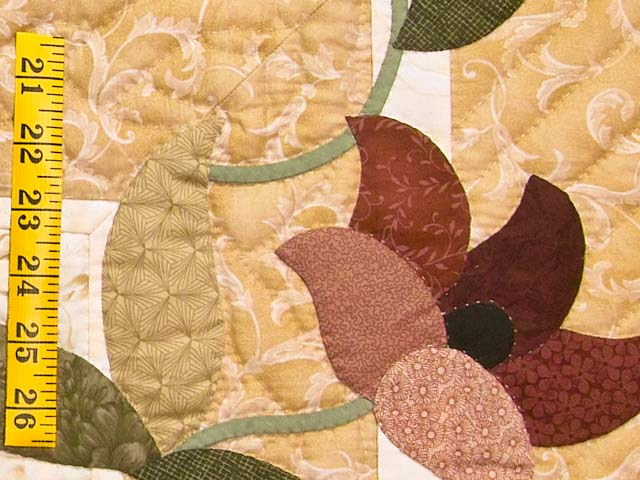 Dusty Rose and Golden Tan Rainbow Reflections Quilt Photo 5
