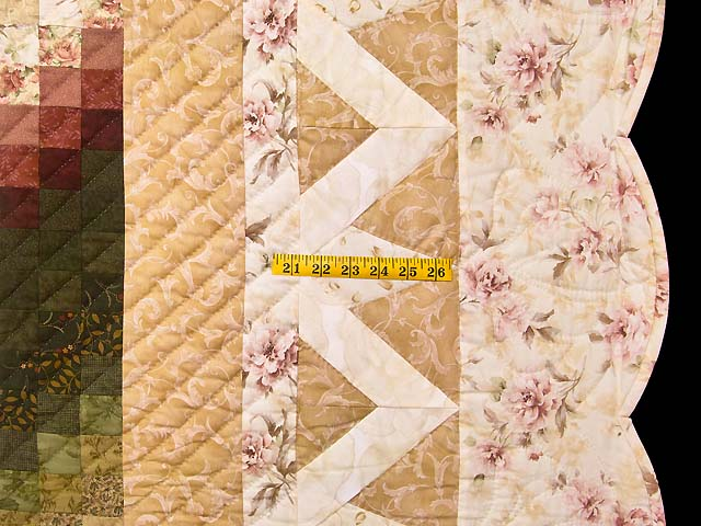 Dusty Rose and Golden Tan Rainbow Reflections Quilt Photo 7