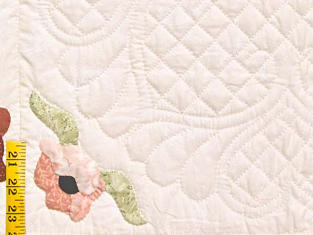 King Mint Green Poppy Field Quilt Photo 6