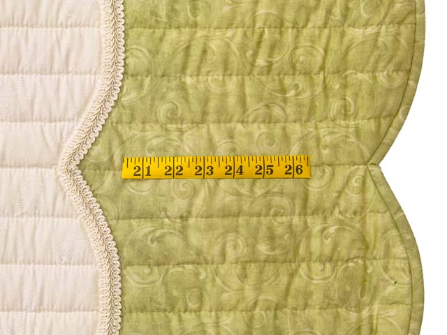King Mint Green Poppy Field Quilt Photo 7