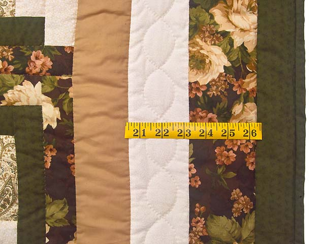 Moss Tan and Mauve Lone Star Log Cabin Quilt Photo 6