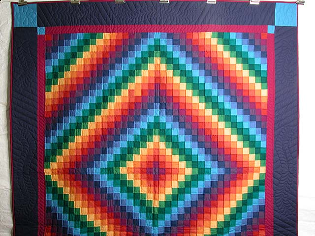Rainbow Trip Around the World Quilt Photo 2