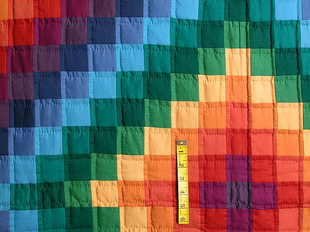 Rainbow Trip Around the World Quilt Photo 4