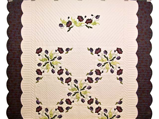 Plum Rose and Willow Poppy Fields Quilt Photo 2