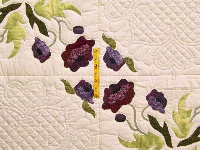 Plum Rose and Willow Poppy Fields Quilt Photo 4