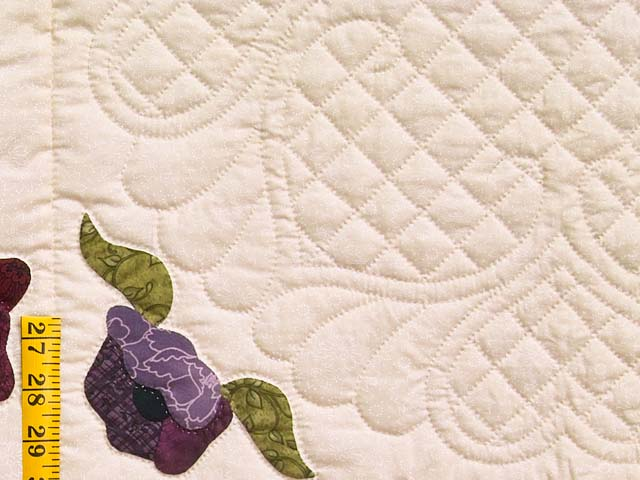 Plum Rose and Willow Poppy Fields Quilt Photo 6