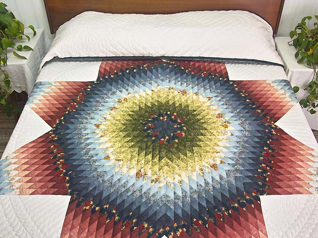 King Multicolor Lone Star Quilt Photo 1