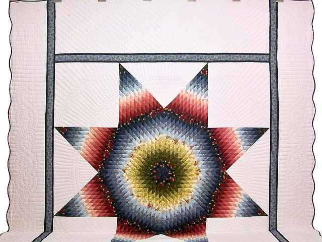 King Multicolor Lone Star Quilt Photo 2