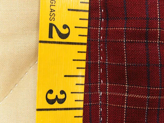 Plaid Burgundy and Tan Lone Star Sampler Quilt Photo 8