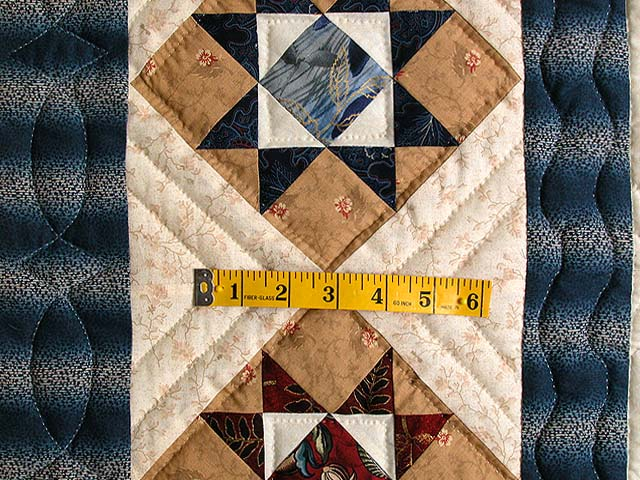 Blue Savanah  Mariners Compass Quilt Photo 6