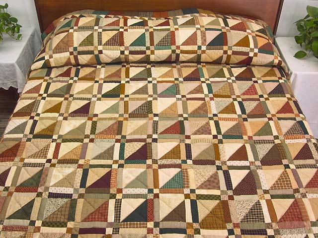 Country Colors Homespun Squares Quilt Photo 1