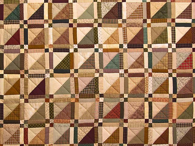Country Colors Homespun Squares Quilt Photo 3