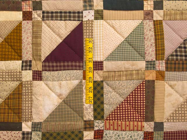 Country Colors Homespun Squares Quilt Photo 4