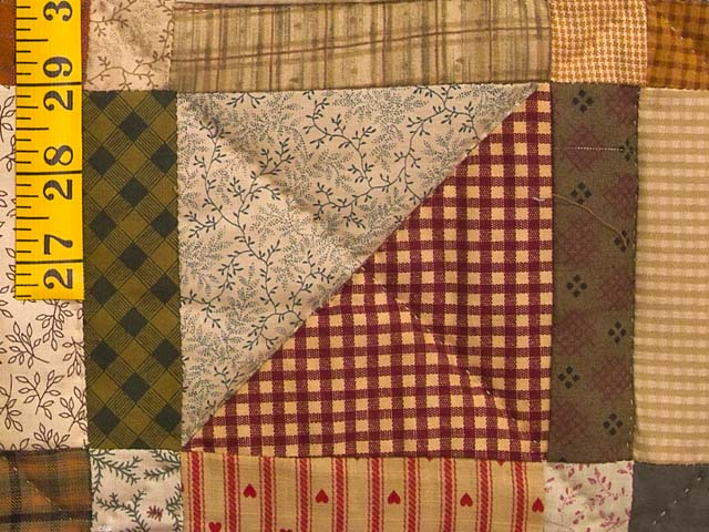 Country Colors Homespun Squares Quilt Photo 6