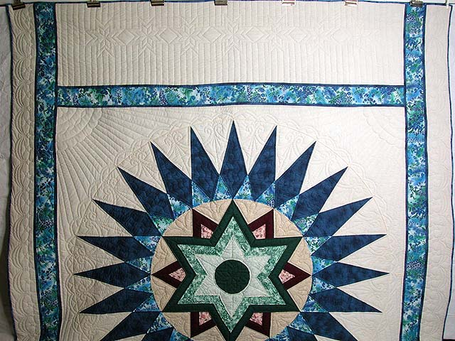 Blue and Multi Indiana Star Quilt Photo 2