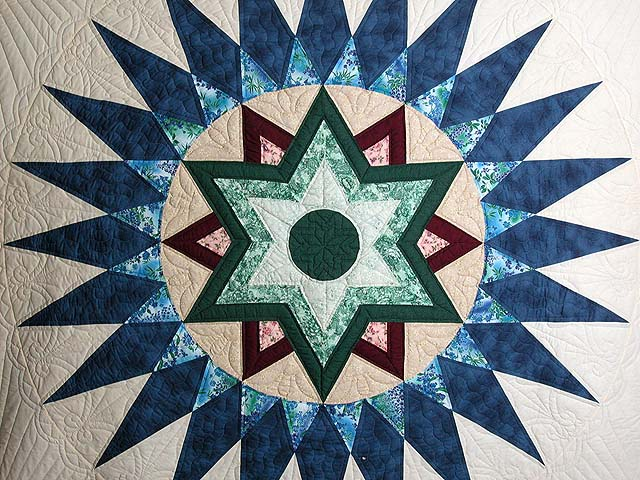 Blue and Multi Indiana Star Quilt Photo 4