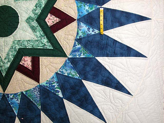 Blue and Multi Indiana Star Quilt Photo 5