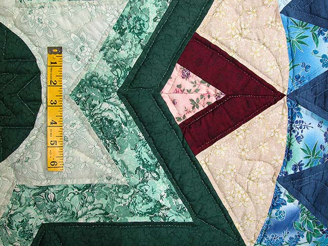 Blue and Multi Indiana Star Quilt Photo 6