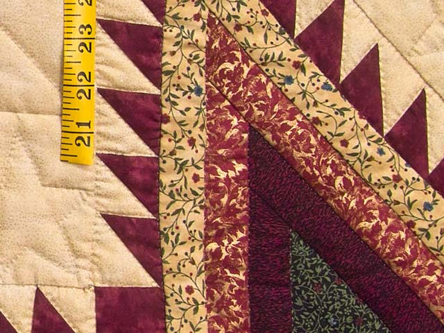 Bugundy and Teal Feathered Star Trip Quilt Photo 5