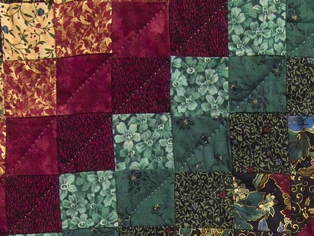 Bugundy and Teal Feathered Star Trip Quilt Photo 6