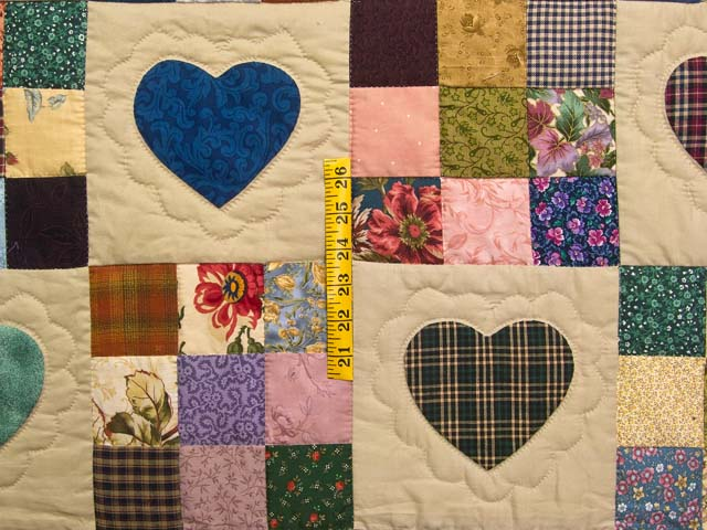 Autumn Tones Heart and Nine Patch Quilt Photo 4