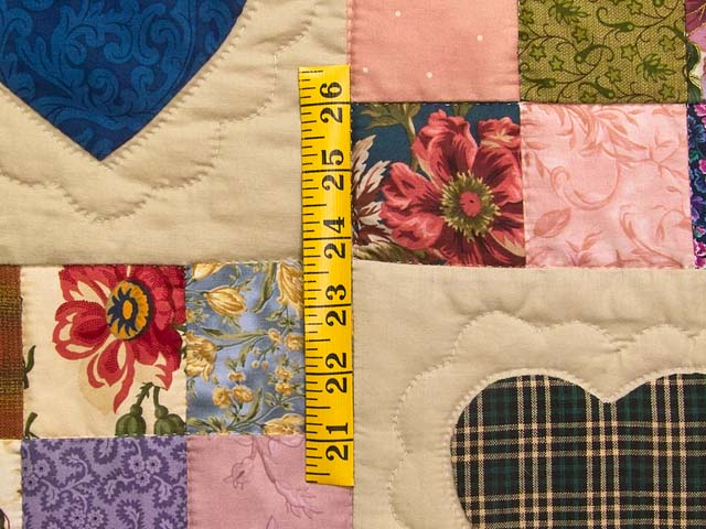 Autumn Tones Heart and Nine Patch Quilt Photo 5