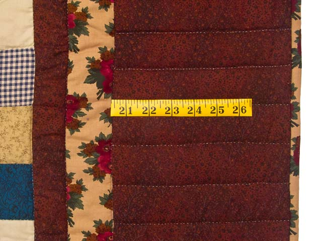Autumn Tones Heart and Nine Patch Quilt Photo 6