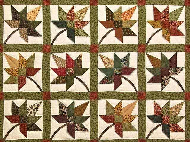 Earth Tones Autumn Splendor Quilt Photo 3