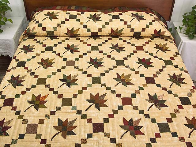 Earthtones Autumn Wind Quilt Photo 1