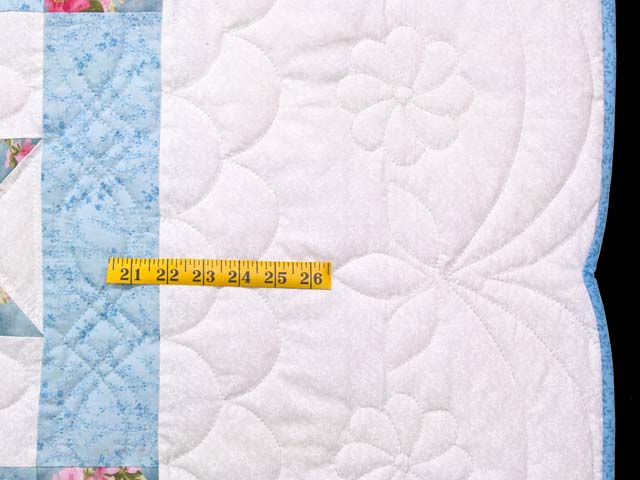 Pastel Blue and Rose Dahlia Star Quilt Photo 6