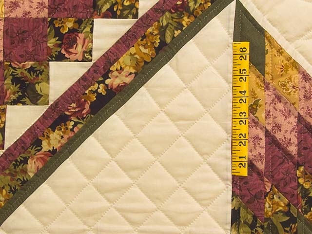 Burgundy Moss and Golden Tan Lone Star Trip Quilt Photo 5
