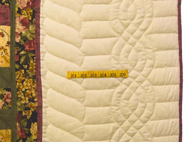 Burgundy Moss and Golden Tan Lone Star Trip Quilt Photo 7