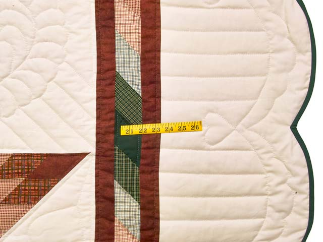 Red and Green Plaid Star of Bethlehem Quilt Photo 7