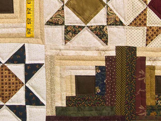 Earthtones Ohio Star Log Cabin Quilt Photo 6