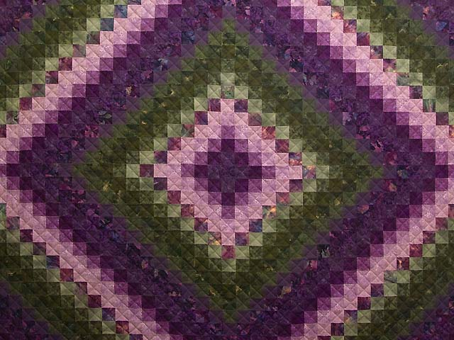 Purple and Green Trip Around the World Quilt Photo 3