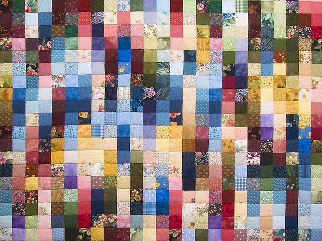 Multicolor Hit or Miss Quilt Photo 3